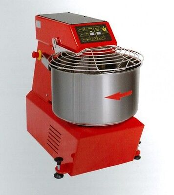 Spiral Dough Mixer 50 Lt 56 Qt - 42 Kg 92 Lbs - With Timer - Made In Italy