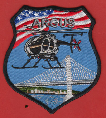 OAKLAND CALIFORNIA POLICE  ARGUS HELICOPTER AIR GROUND SUPPORT SHOULDER  PATCH