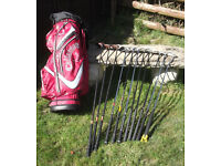 Set of Clubs and Callaway Trolleybag