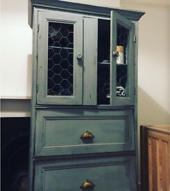 Shabby chic pantry style cabinet chest cupboard