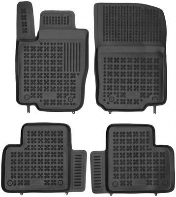 4-teilige schwarze Gummifußmatte für MERCEDES GLE GLE Coupe W166 M-Klasse