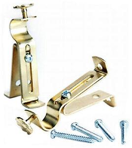 Newell Levolor Pair 5 8 034 Brass Cafe Curtain Rod