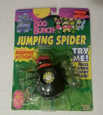 Trendmasters Halloween BOO BUNCH JUMPING SPIDER Works ON CARD 1993 Action - Halloween Action Cards