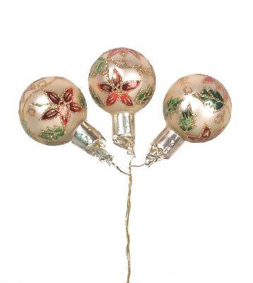 Darice Gold Ornament Pick With Glitter Poinsettia Design 2 Assorted Sizes