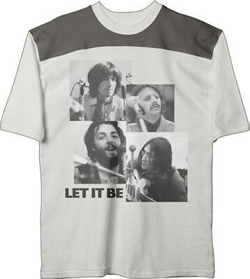 The Beatles-Let It Be-Large Cut N Sew Vintage Wash Fashion T-shirt