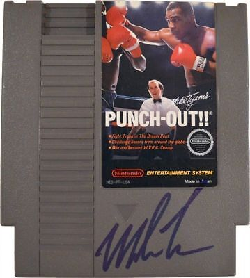 Iron Mike Tyson Autographed Signed Nintendo Punch Out Video Game ASI Proof