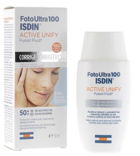 ISDIN FotoUltra100 ACTIVE UNIFY Sunscreen SPF50+ Fusion Fluid, 50ml (1.69oz)