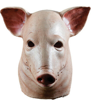 SAW THE MOVIE GRUESOME BLOODY PIG SEVERED HEAD FULL LATEX MASK COSTUME MA1039](Pig Saw Mask)