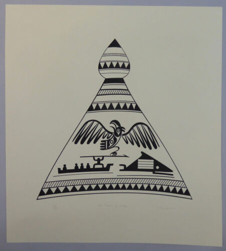 "Northwest Coast Artist Joe David ""The Crown of Title"" Aboriginal Art"