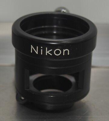 Nikon Model S Microscope Phototube Adapter W Filter Slot For Trinocular Tube