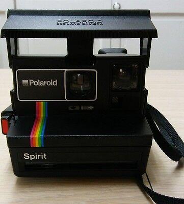 Polaroid Spirit Instant One Step 600 Land Camera Rainbow Stripe