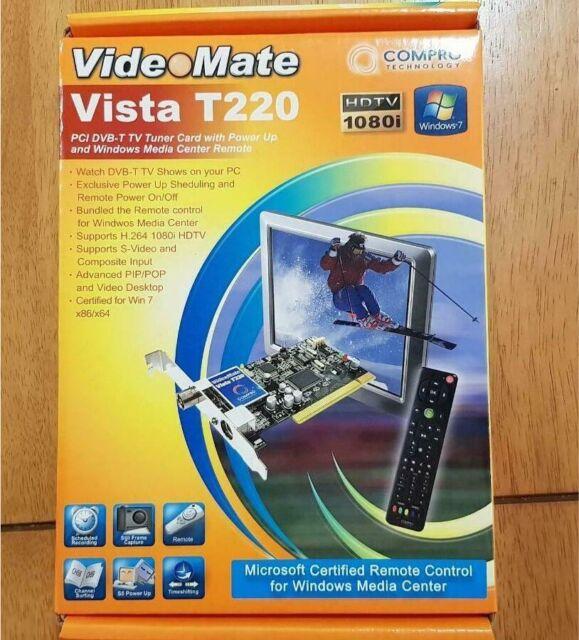 Videomate Vista T220 PCI DVB T TV Tuner Card