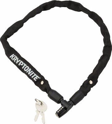 Kryptonite Keeper 465 Chain Lock with Key: 2.13' x 4mm Black