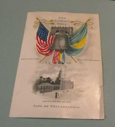 1915 Panama Pacific International Exposition San Francisco Liberty Bell Card 6x8