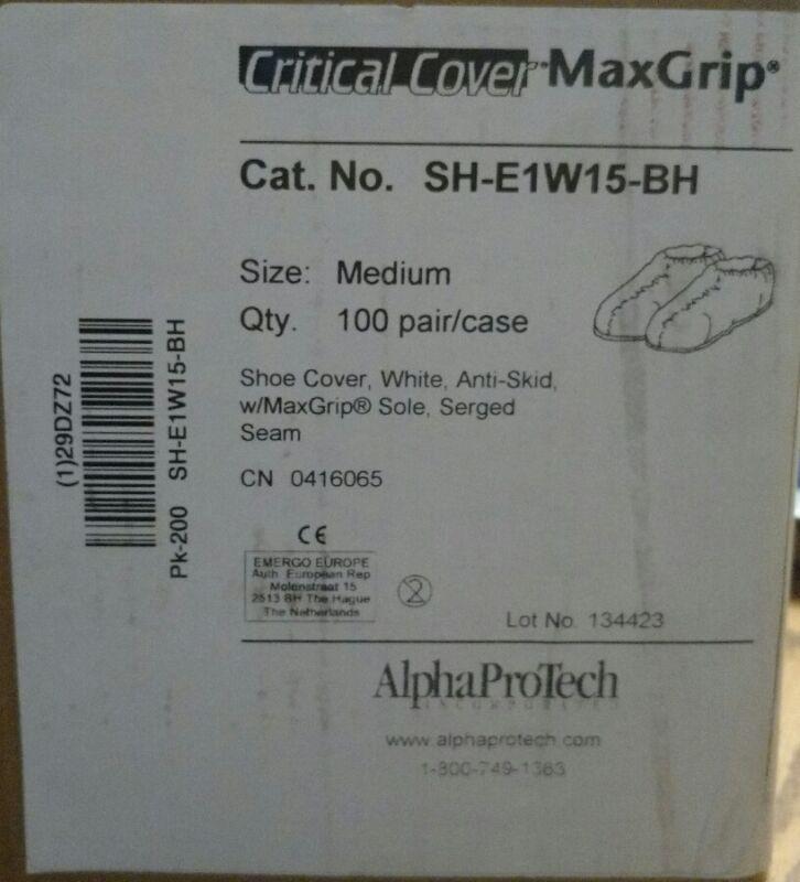 AlphaProTech Critical Cover Max Grip Shoe Cover 100 pair/case SH-E1W15BH