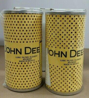 John Deere Orginal Equipment Filter Element Ar26350 Lot Of 2
