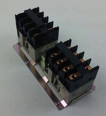 2 Omron Relay G7z-4a 24vdc - G7z4a Two Mounted New Surplus