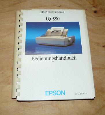 EPSON LQ-550 Drucker Printer Bedienungshandbuch Anleitung Manual - Epson Drucker Handbuch