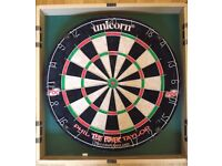 Unicorn Dartboard and Cabinet (Phil Taylor)