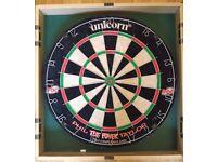 Unicorn Dartboard and Cabinet (Phil Taylor)