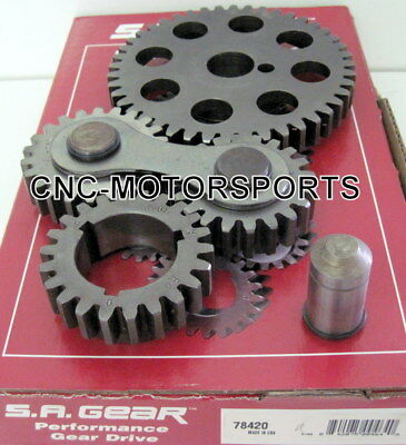 Engine Timing Set S.A. GEAR 78420 SB Ford 302 351W Gear Drive Noisy