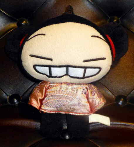 Rare Pucca Smiling With Teeth Plush Window Cling Suction Cup Anime Figure