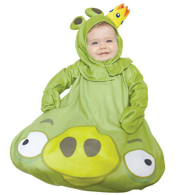 Rovio Angry Birds Green King Pig Infant 0-9m Costume Toddler Baby Halloween - Angry Bird Toddler Costume