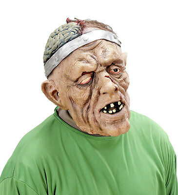 Herren Zombie-Maske Offen Gehirn Monster Latex Gruselig Halloween Kostüm - Gehirn Maske Kostüm