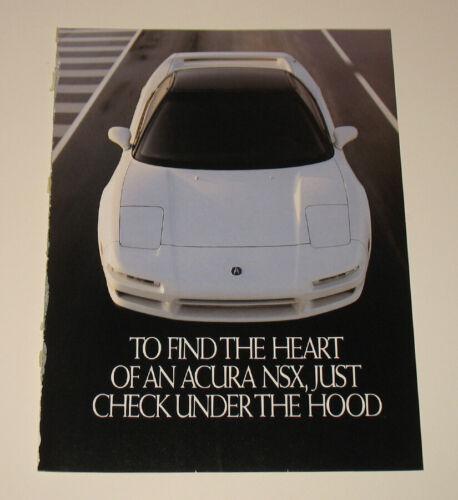 1992 Acura Integra NSX Sports Car 4pg Print Advertisement