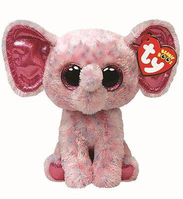 "TY Beanie Boo 6"" Ellie the Elephant 15cm - Collectable Plush"