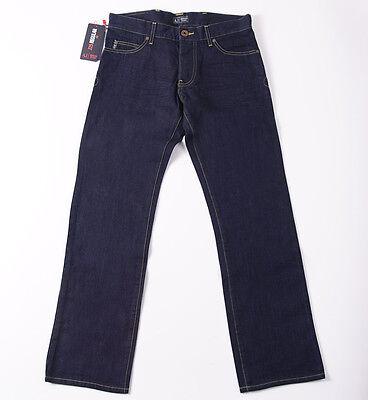 NWT $225 ARMANI JEANS 'J25' Regular-Fit Straight Leg Jeans 34 x 32 Dark Blue