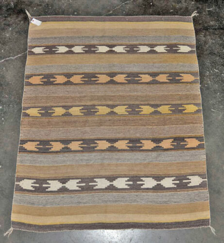 "Navajo rug, Crystal Classic Revival  c. 1950    67"" x 53.5"""
