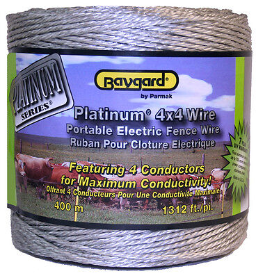 Parker 961 4 X 4 1312 Ft. Platinum Series Supr Heavy Electricfence Wire Silver