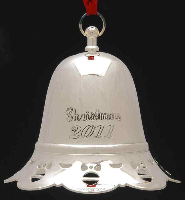Towle Silver Musical Christmas Bell 2011-O Tannenbaum - Boxed 8859553