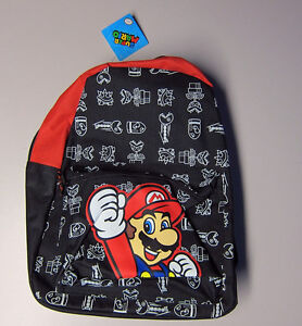 Super Mario Printed Back Pack (Black and Red) Woodville Charles Sturt Area Preview