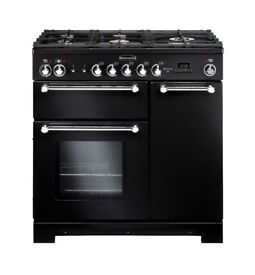 Brand New Rangemaster Kitchener 90 Dual Fuel Black Range Cooker