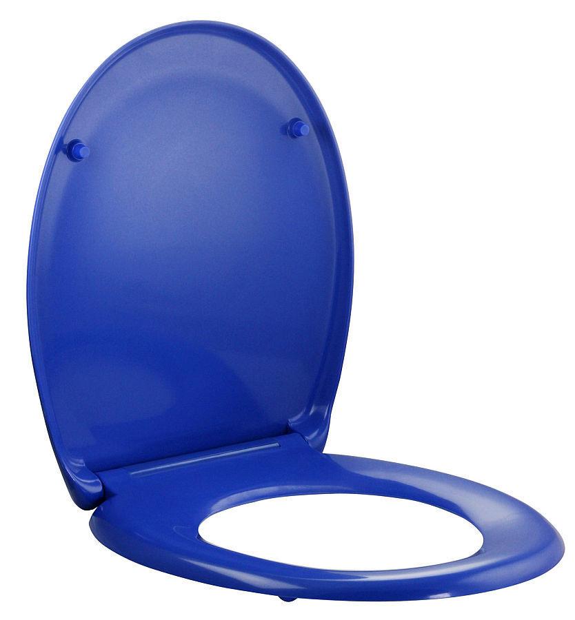 Toilettensitz Toilettendeckel Klodeckel ABSENKAUTOMATIK Brille WC Sitz Dark Blue