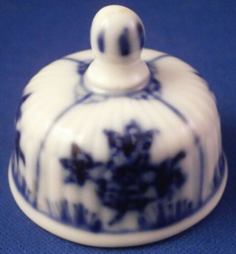 Antique German Porcelain Strawflower Tea Caddy Jar Lid Porzellan Deckel Germany