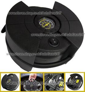 Compact-Small-Car-12v-Tyre-Air-Compressor-Inflator-Pump-80PSI-Analogue-Gauge