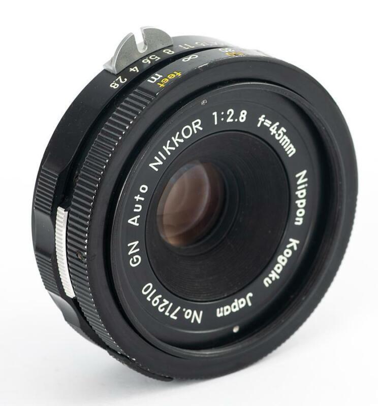 Nikon Nikkor 45mm f/2.8 GN Pancake Lens Non-Ai - Compact - EXCELLENT USA Seller
