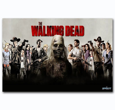 T-303 Art Poster The Walking Dead Season 8 Horror TV Series Silk Print