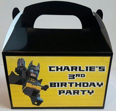 Personalised Lego Batman cake / party boxes (Lego Batman Cake)