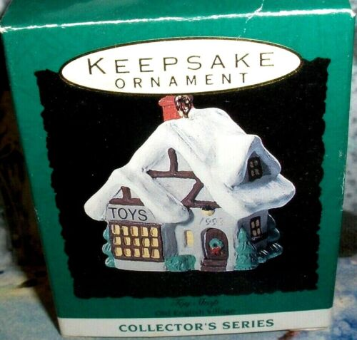 Toy Shop`1993`Miniature-Old English Village Series,Hallmark Ornament->Free Ship