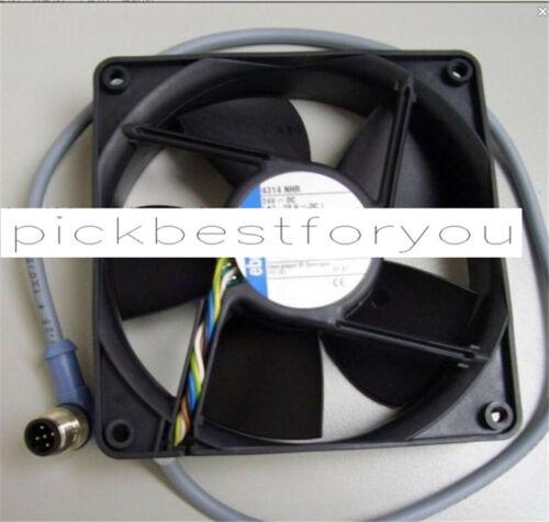 1pcs Ebmpapst 4314NHR 24VDC 120*120*32MM 5pin 8.7W  fan #M133C QL