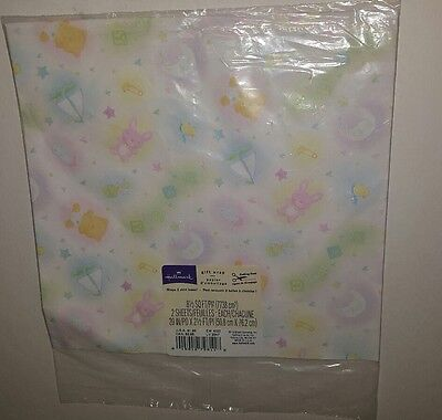 Vintage Hallmark Wrapping Paper Baby Shower/Gift](Baby Shower Gift Wrapping Paper)