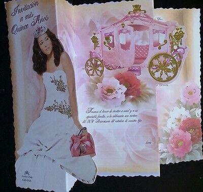 100 Invitaciones de Quinceañera (Spanish Quinceañera Invitations), Favors15 anos (Quinceañera Invitations)