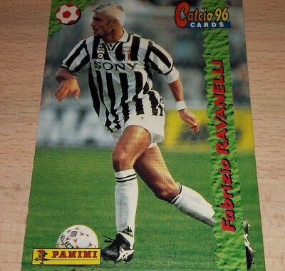 CARD CALCIATORI PANINI 96 JUVENTUS RAVANELLI CALCIO FOOTBALL SOCCER ALBUM 1996