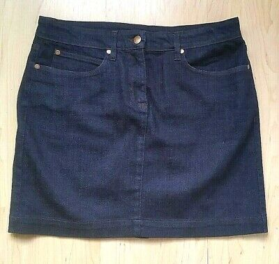 S NWOT EILEEN FISHER CLASSIC 5 POCKET DARK DENIM MINI Organic Cotton, 30