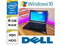 REFURBISHED - Dell Latitude E6430 Intel Core i5 8gb Ram 256gb SSD + 500gb HDD Windows 10 Laptop
