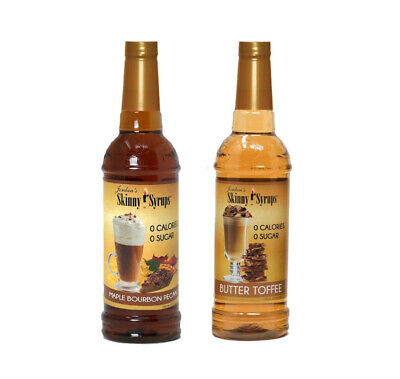 Pecans Maple Syrup - Jordan's Skinny Syrups Maple Bourbon Pecan & Butter Toffee Flavored Syrup